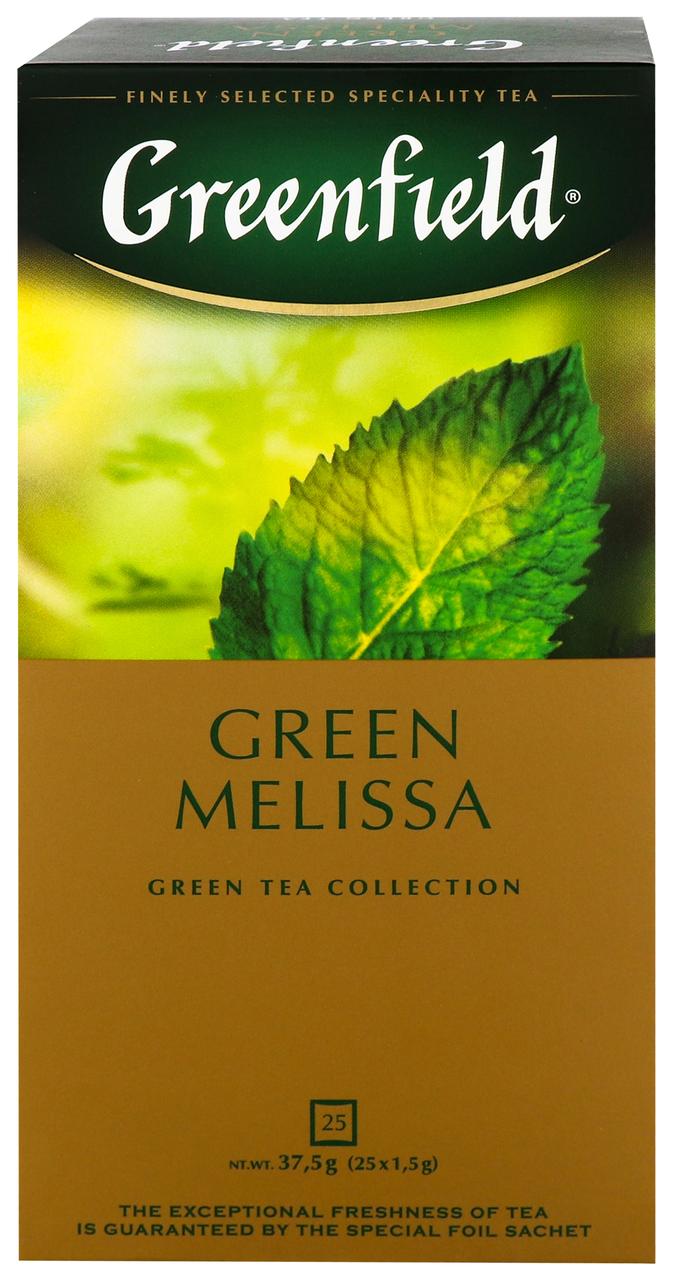 Чай Greenfield Green Melissa зелен китай бай дріб 25*1.5г/уп