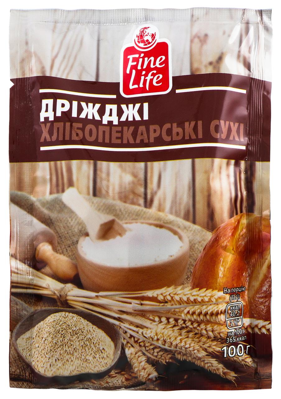Дріжджі Fine Life хлібопекарські сухі 100г