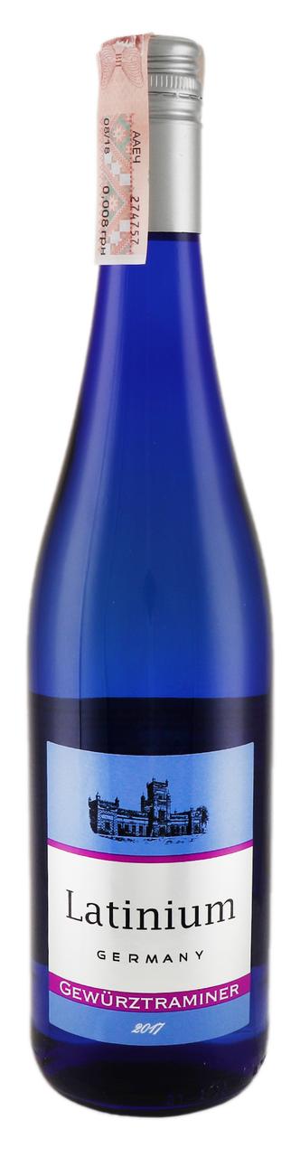 Вино Latinium Gewürztraminer біле напівсолодке 10% 0,75л