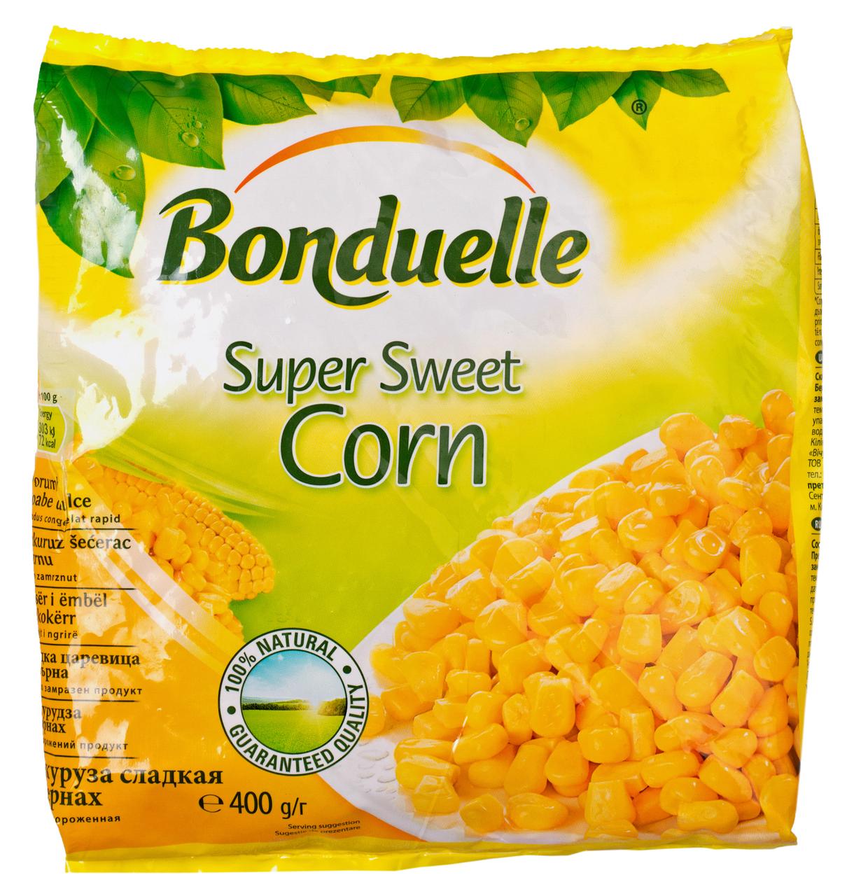 Кукурудза Bonduelle в зернах заморожена 400г
