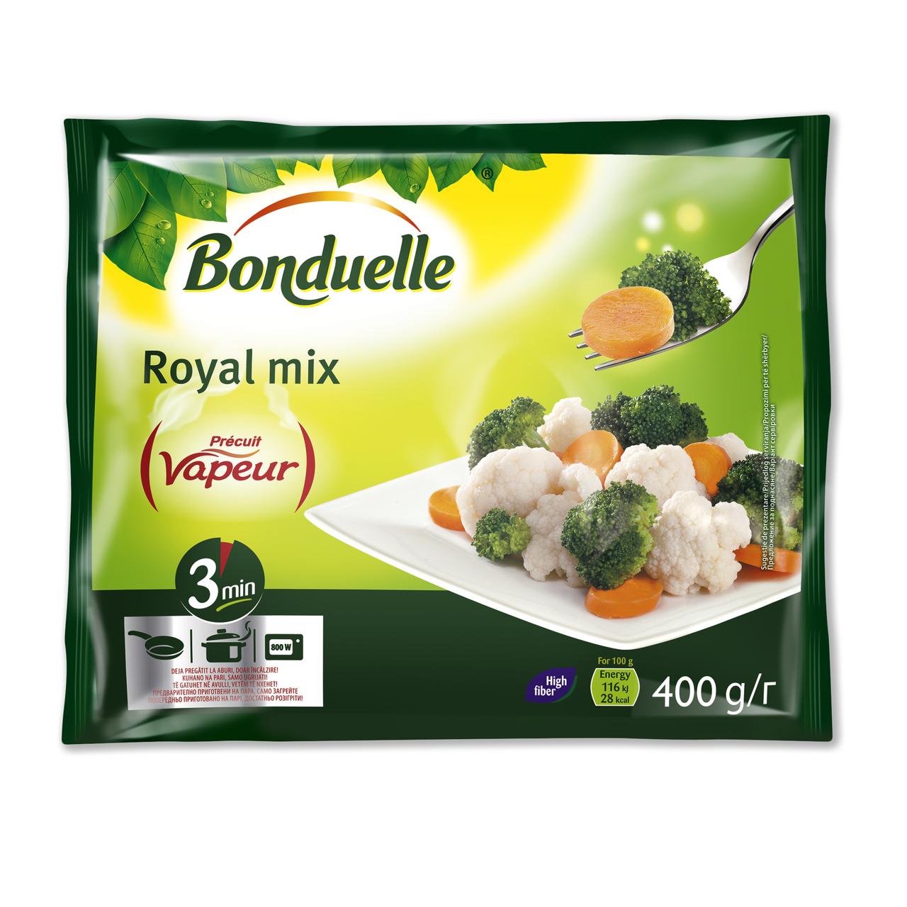 Суміш овочева Bonduelle Royal Mix заморожена 400г
