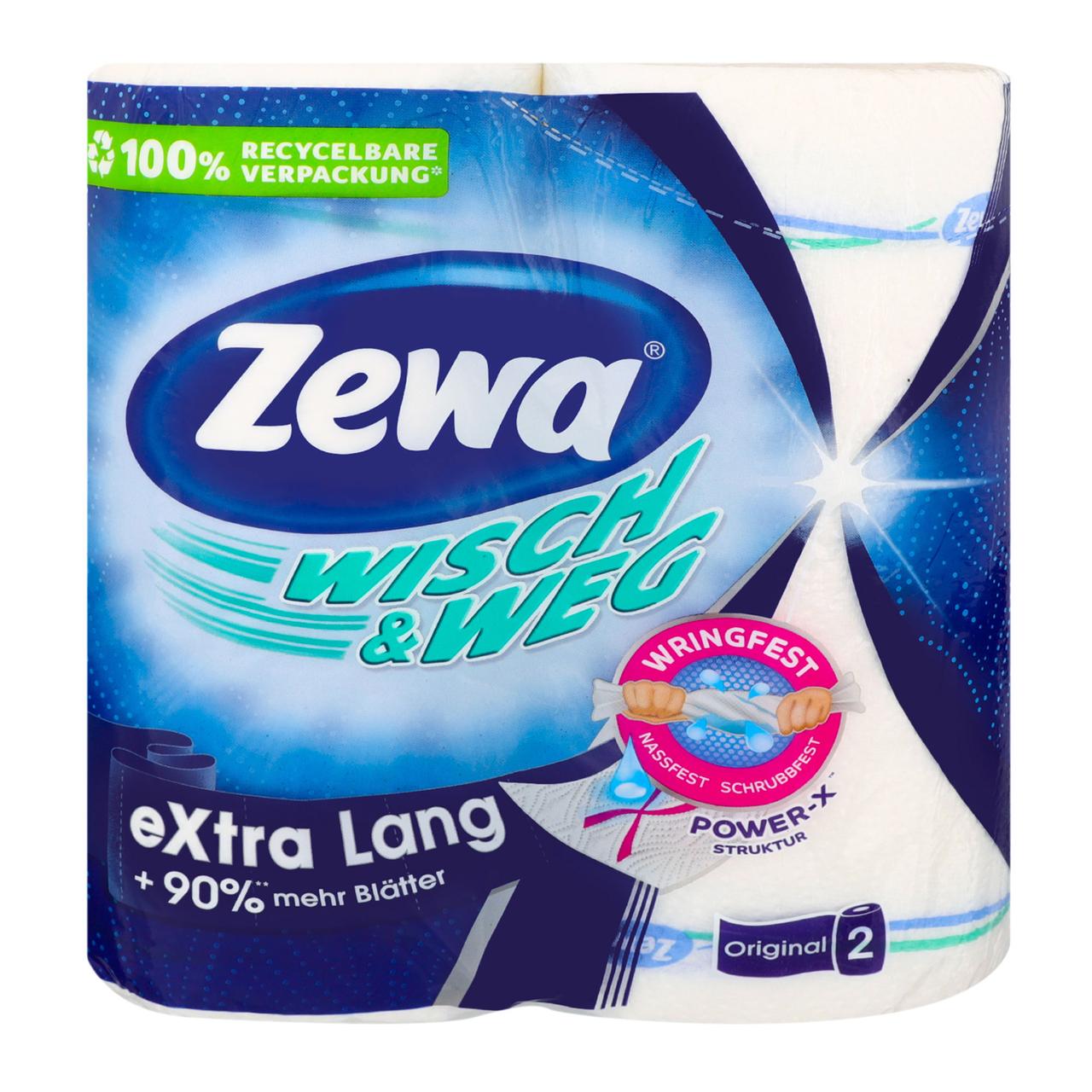 Рушники пап Zewa Original Extra Lang Wisch&Weg кух 2шар 2шт