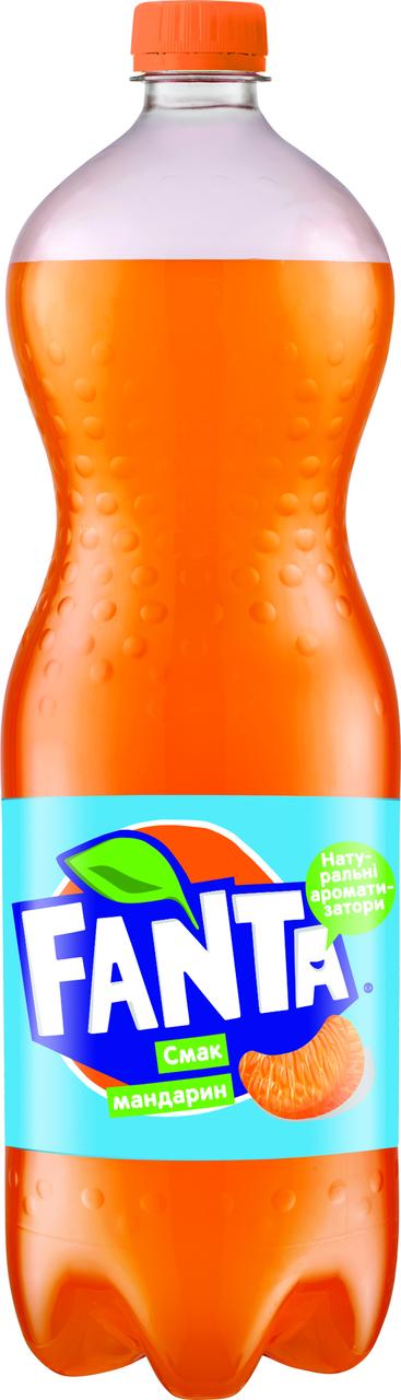 Напій Fanta Мандарин безалкогольний сильногазований 1,5л