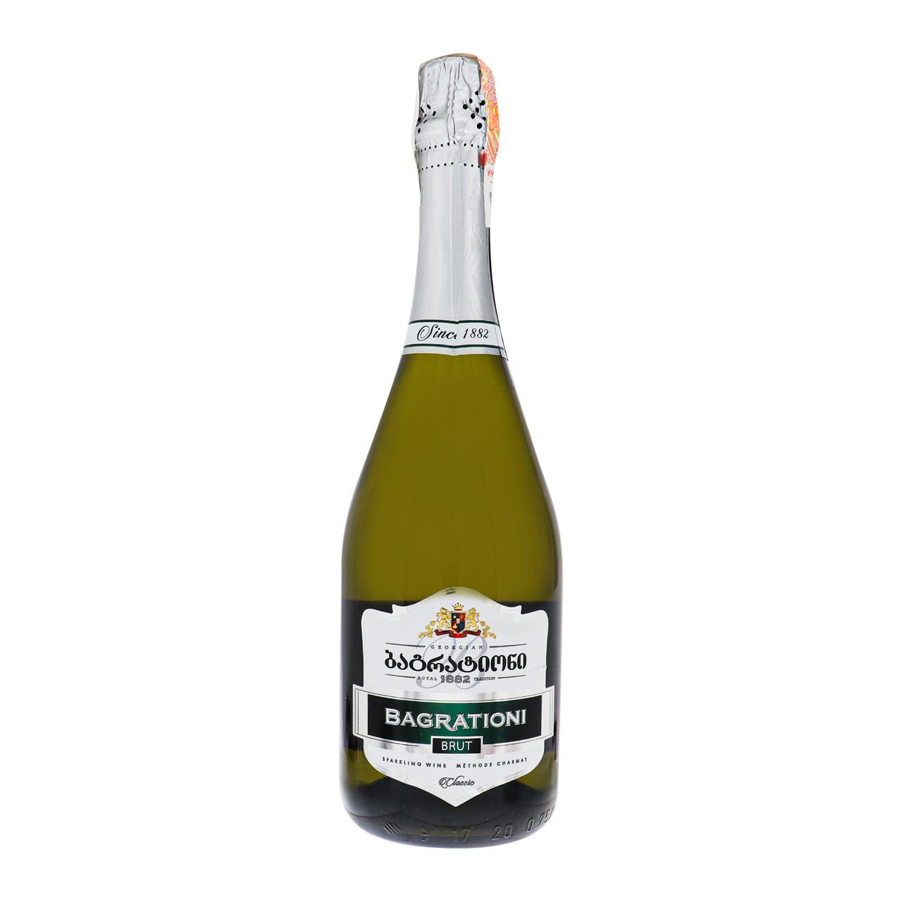 Вино ігристе Bagrationi Classic біле брют 12% 0.75л