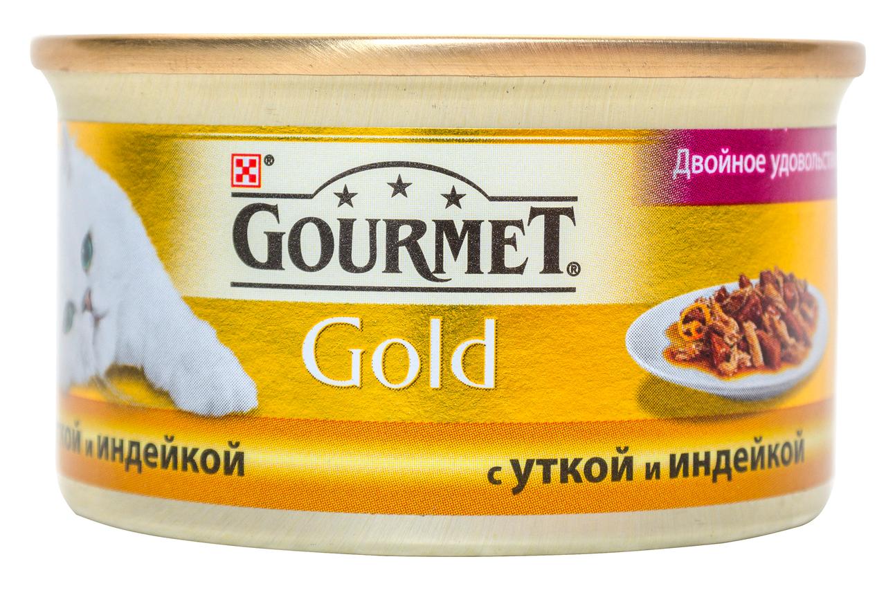 Корм для кішок Purina Gourmet Gold Duo з качкою-індичкою 85г