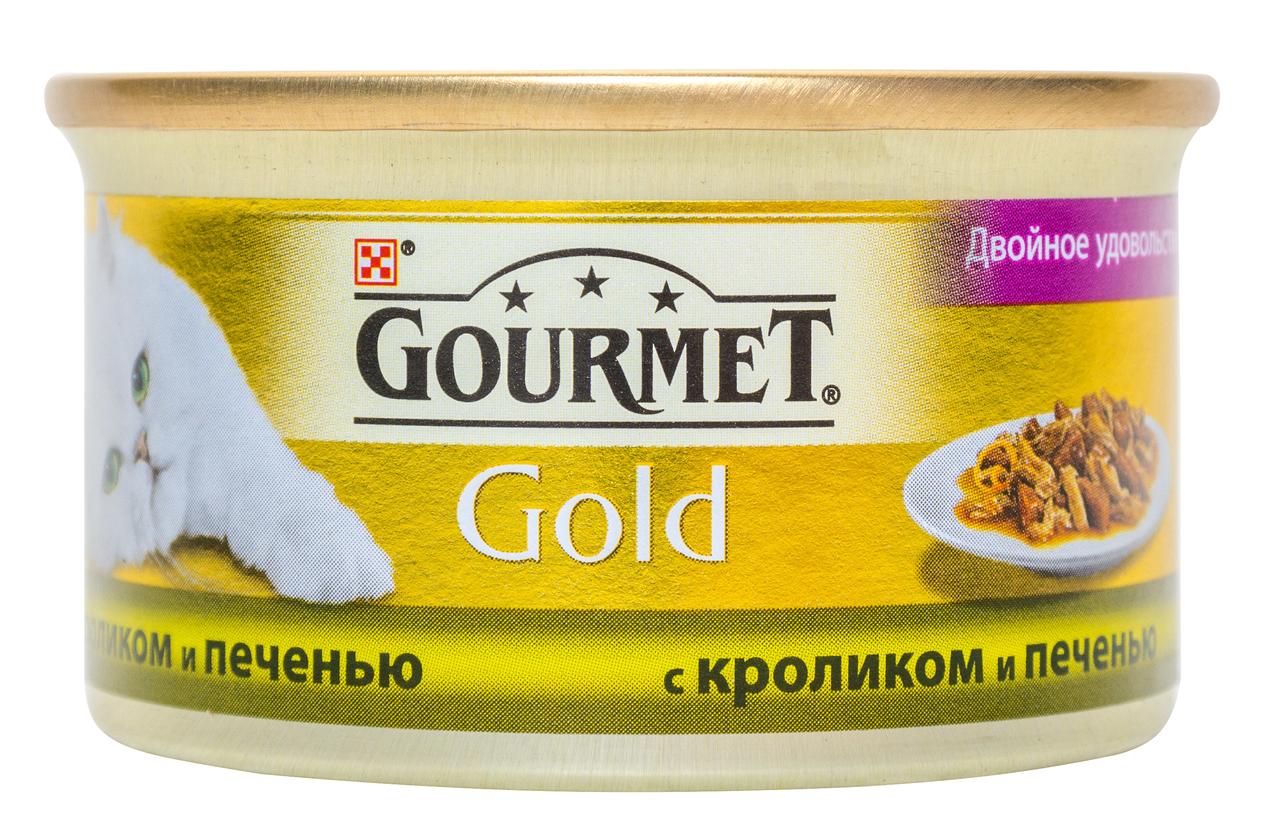 Корм для кішок Purina Gourmet Gold Duo кролик-печінка 85г