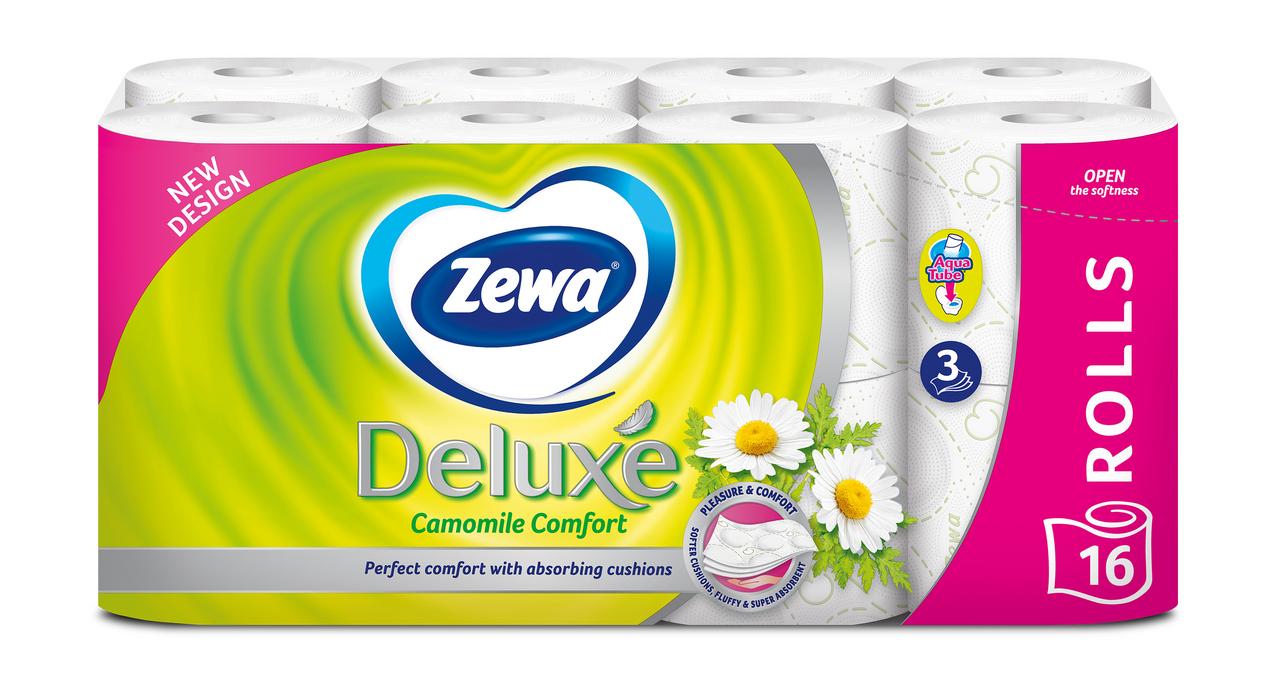 Папір туалетний Zewa Deluxe з ароматизованою гільзою 16шт