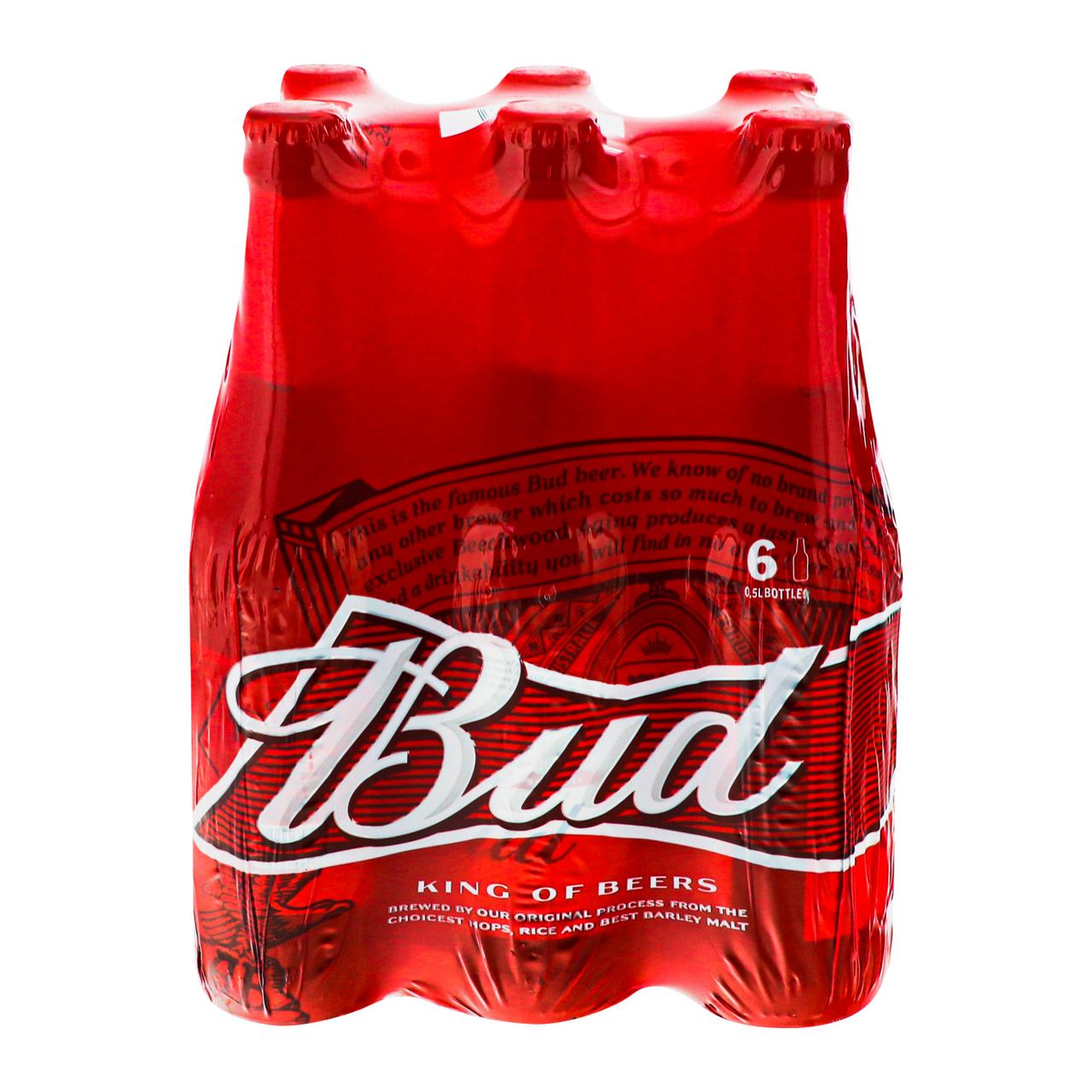 Пиво Bud світле пастеризоване 5% 0.5л