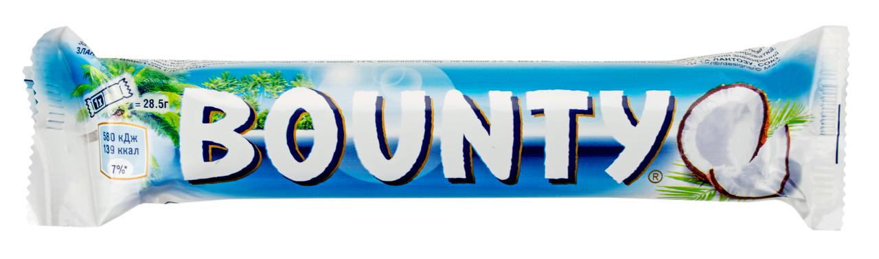 Цукерка Bounty з м`якоттю кокоса в шоколаді 28,5г*2шт 57г