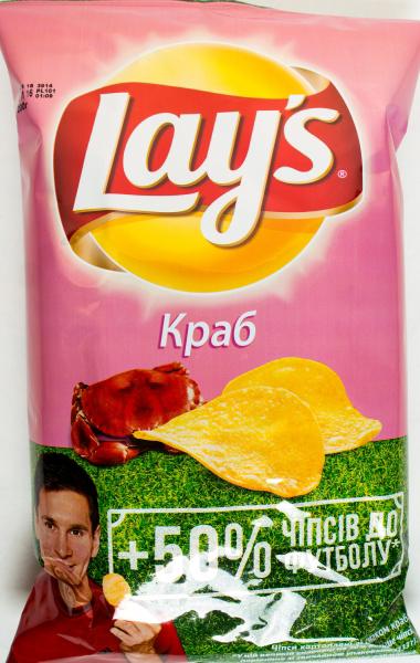 Чіпси Lay`s картопляні зі смаком краба 200г