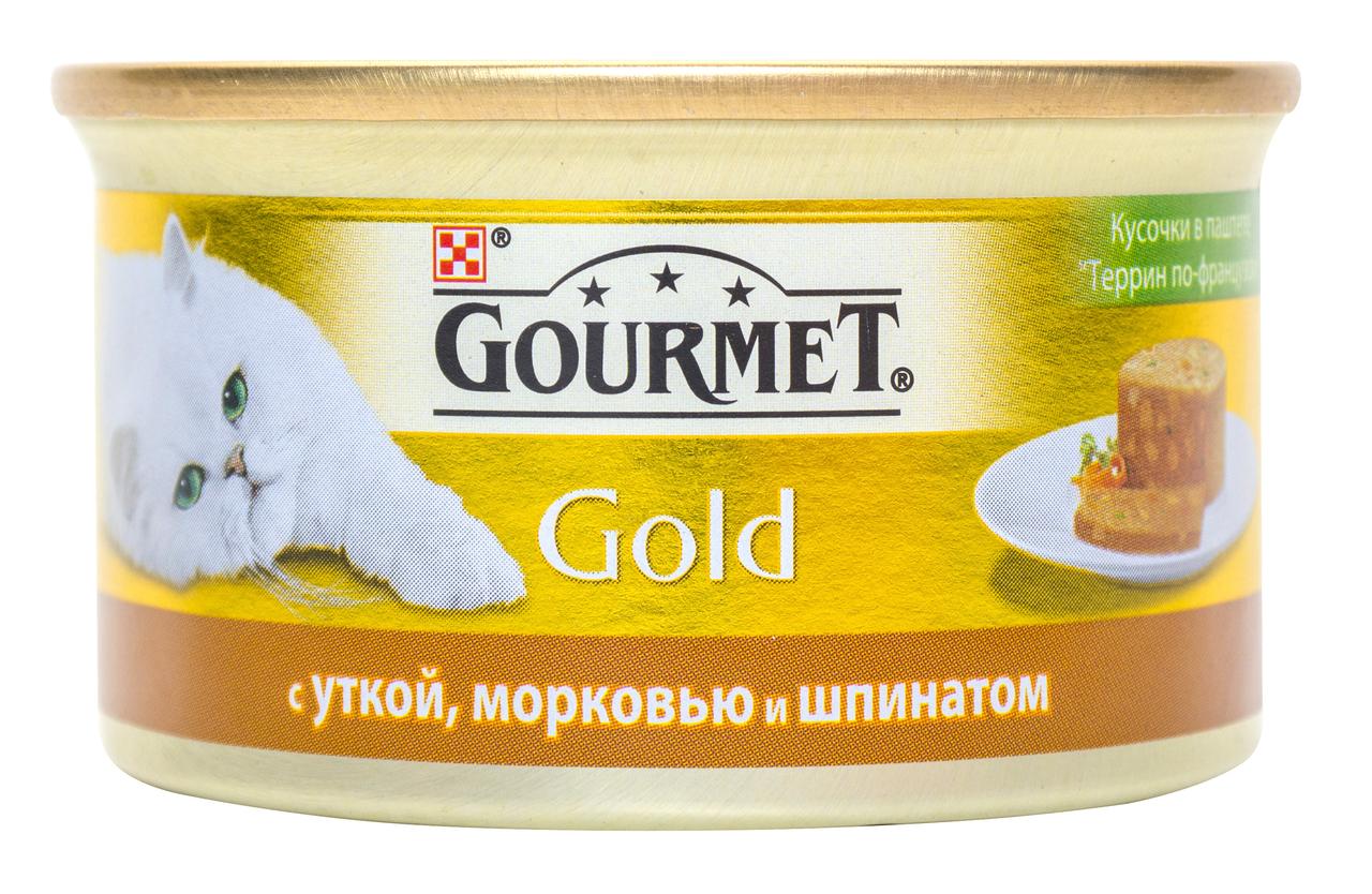 Корм для кішок Purina Gourmet Gold качка-морква-шпинат 85г