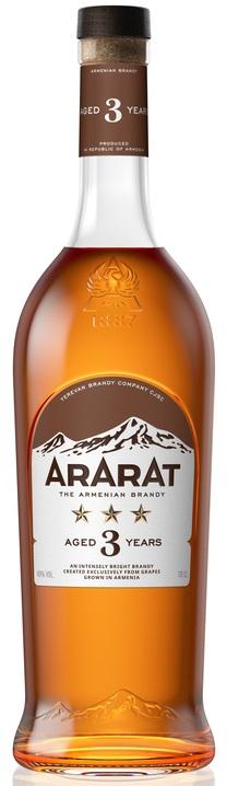 Коньяк Ararat 3 зірки вірменський 40% 0.5л