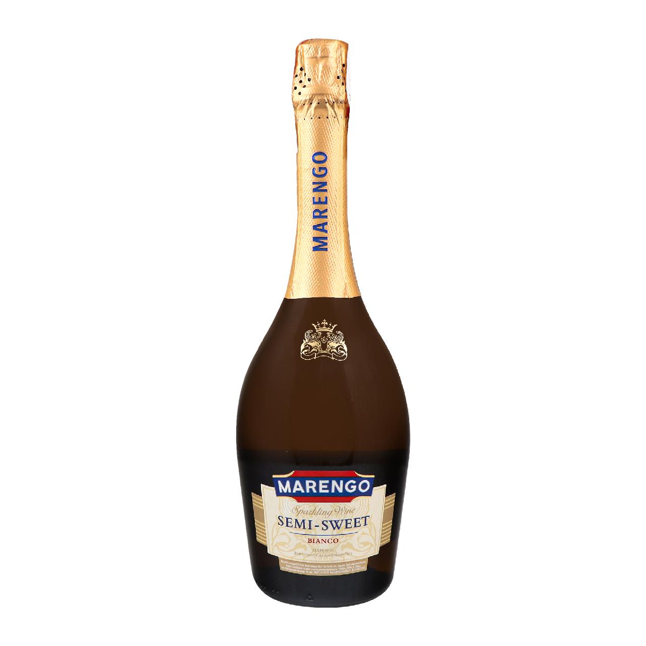 Вино ігристе Marengo Bianco біле напівсолодке 10-13.5% 0.75л