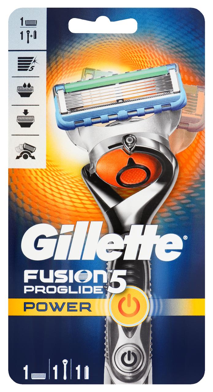 Бритва Gillette FusionProGlide Power касета+батарейка 1шт