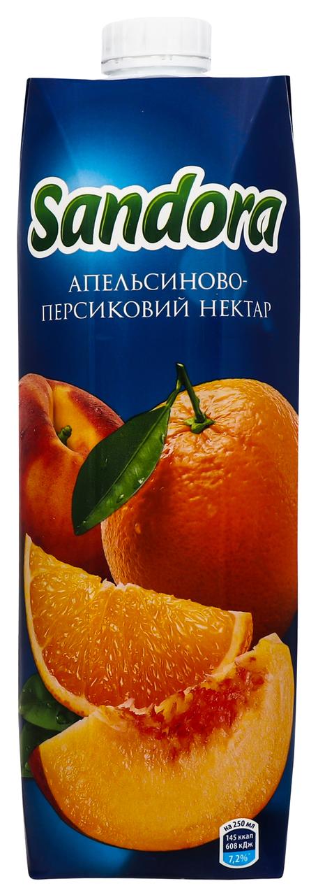 Нектар Sandora Апельсиново-персиковий 1л