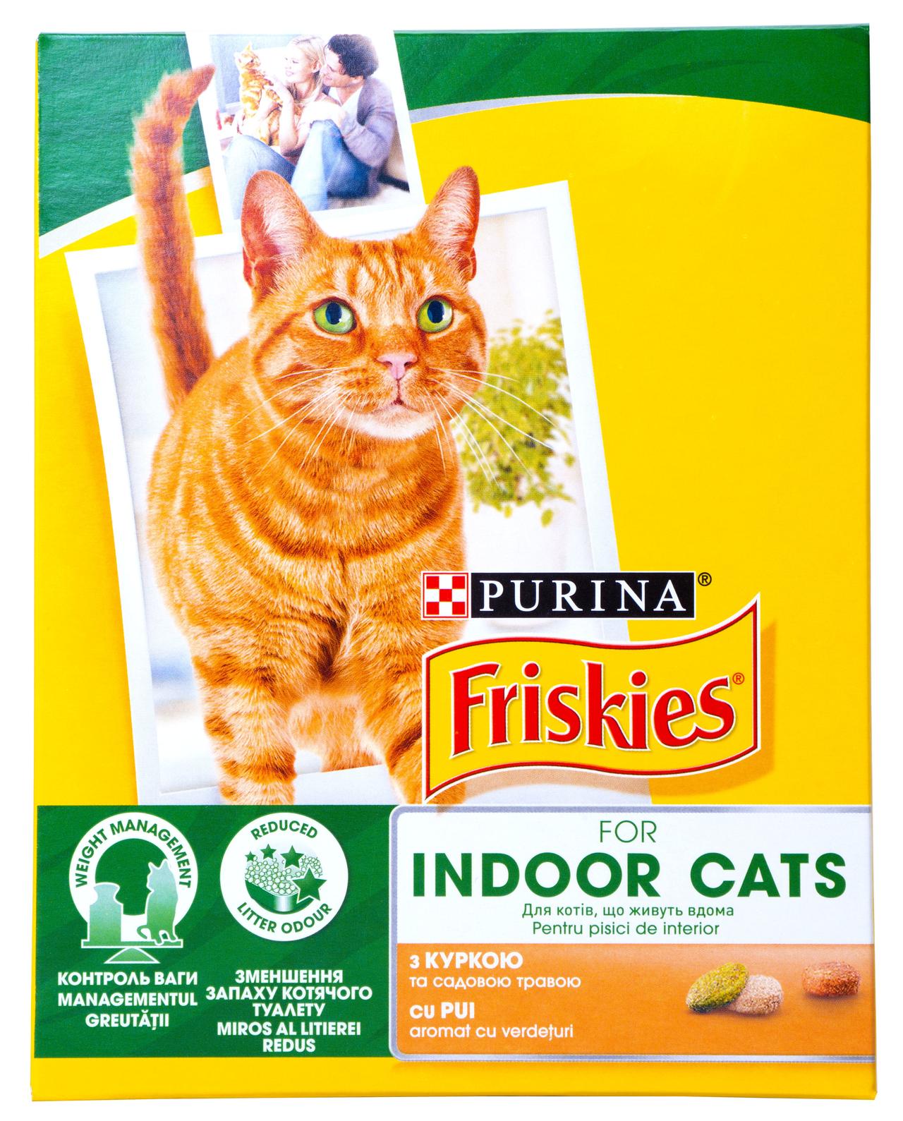 Корм для котів Purina Friskies Indoor курка та трава 270г