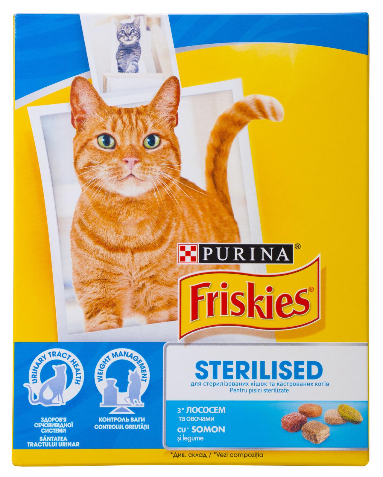 Корм для стериліз кішок Purina Friskies лосось-овочі 270г
