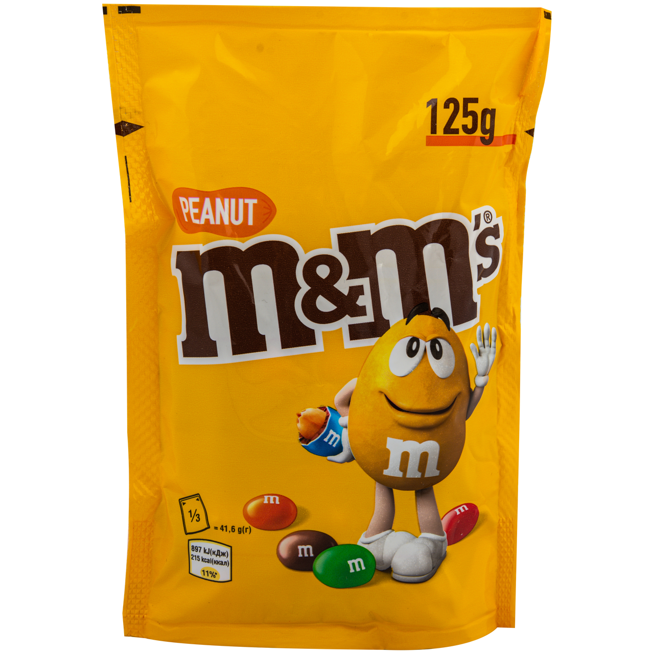 Драже M&M`s з арахісом та молочним шоколадом 125г