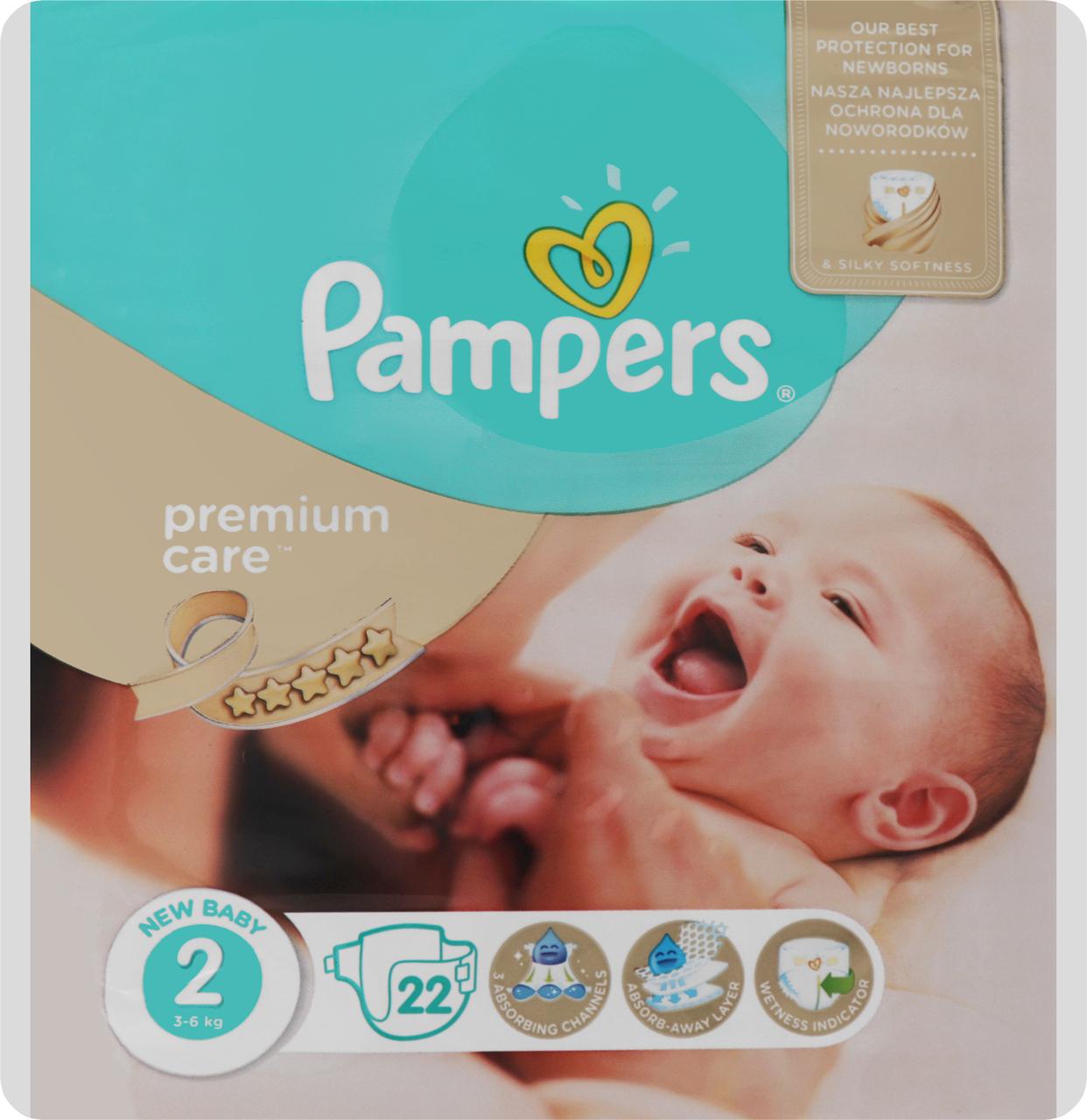 Пiдгузки Pampers Premium Care Mini 2 для дітей 4-8кг 23шт