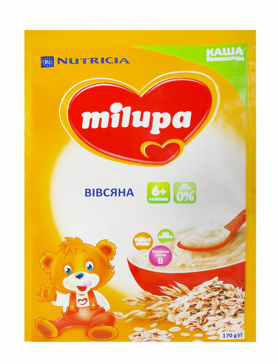 Каша безмолочна Milupa вівсяна для дітей від 6 місяців 170г