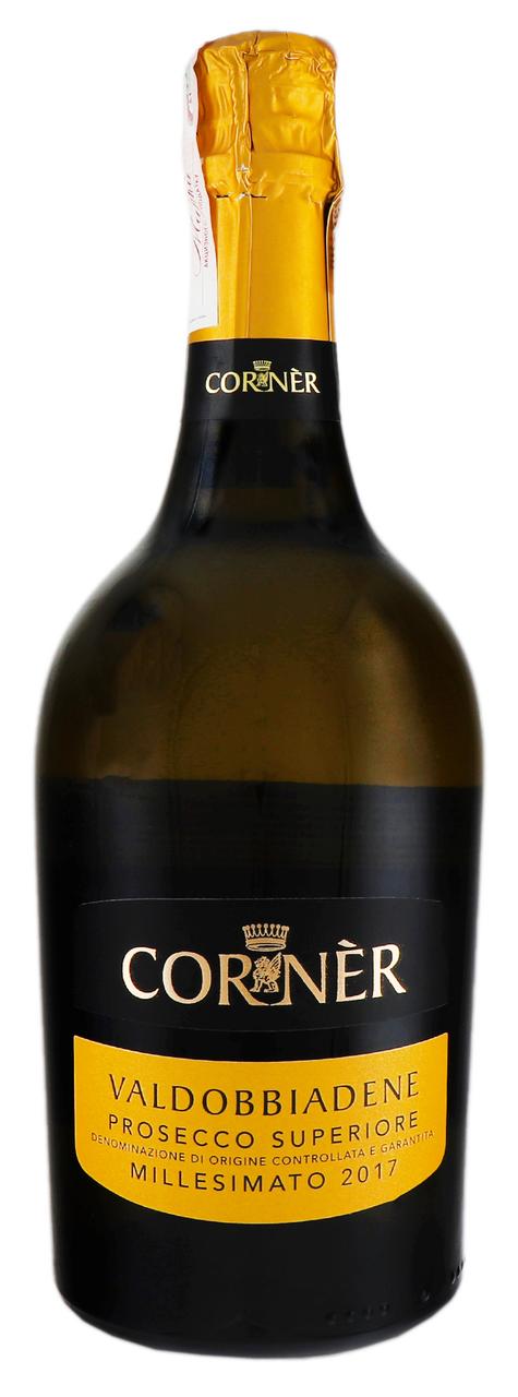 Вино ігристе Corner Prosecco DOCG Valdobbiadene 11% 0,75л