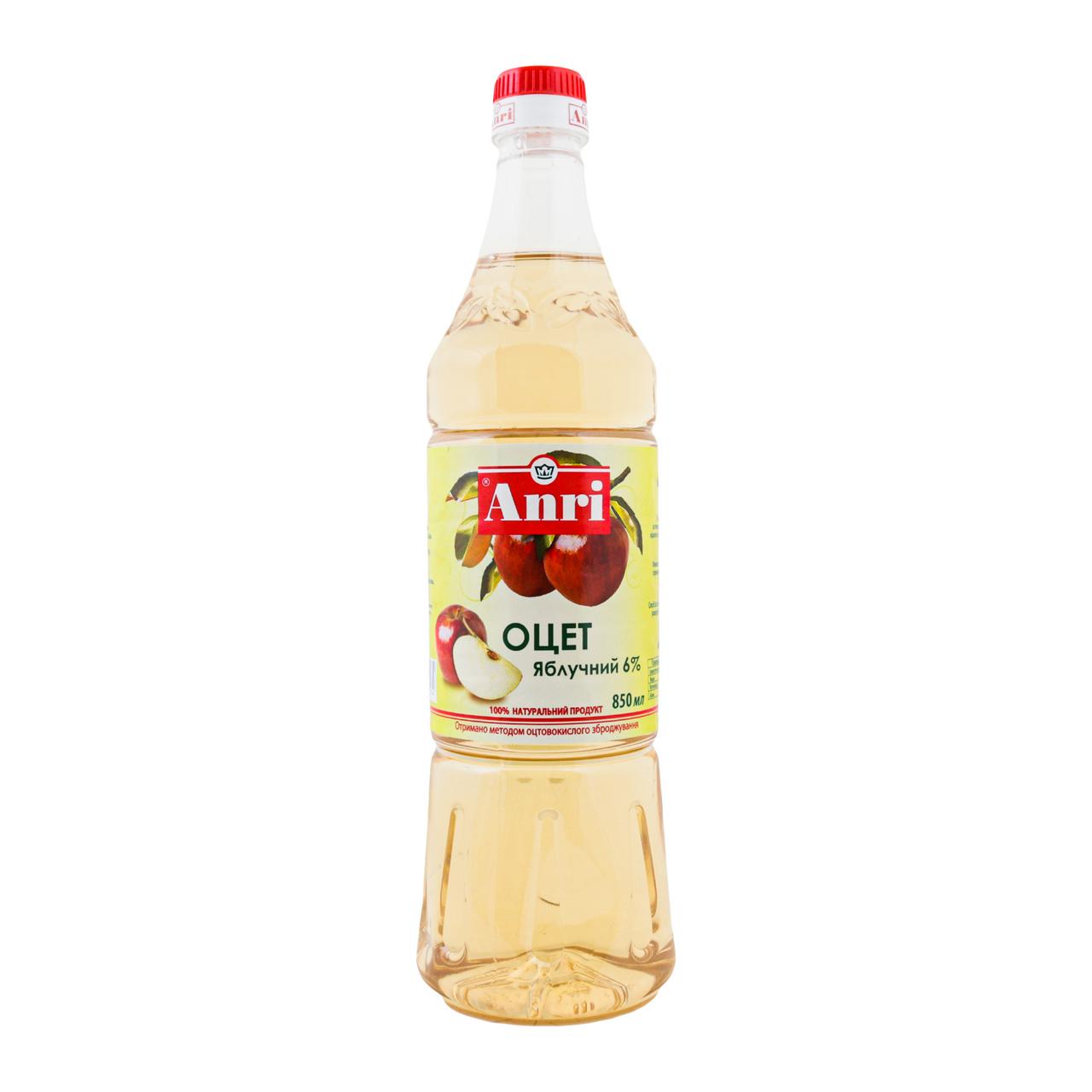 Оцет Anri яблучний 6% 850мл