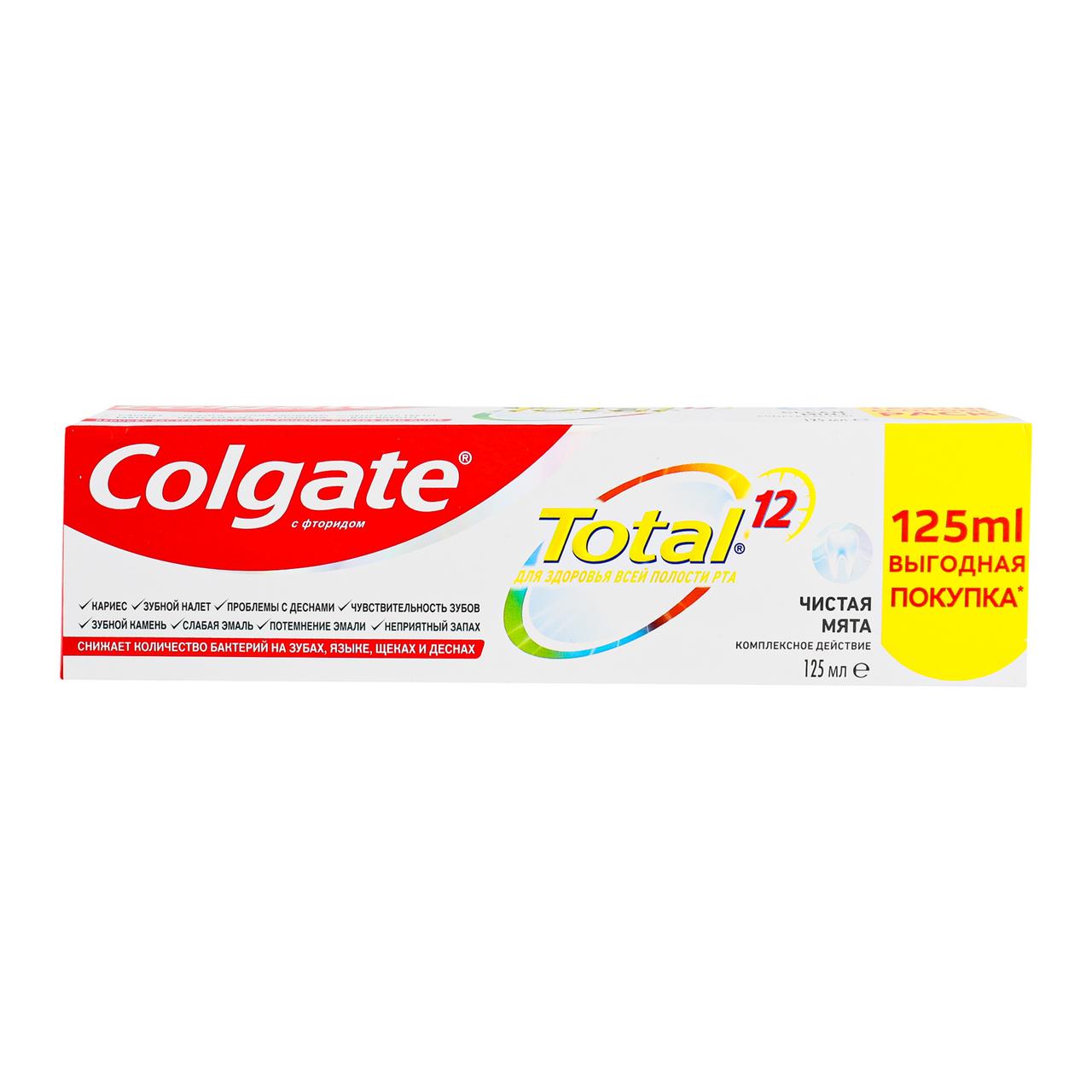 Зубна паста Colgate Total 12 Чиста м`ята 125мл