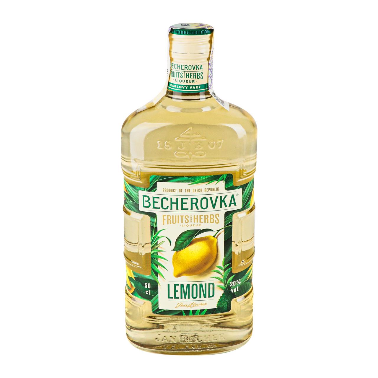 Настоянка Becherovka Lemond лікерна на травах 20% 0.5л