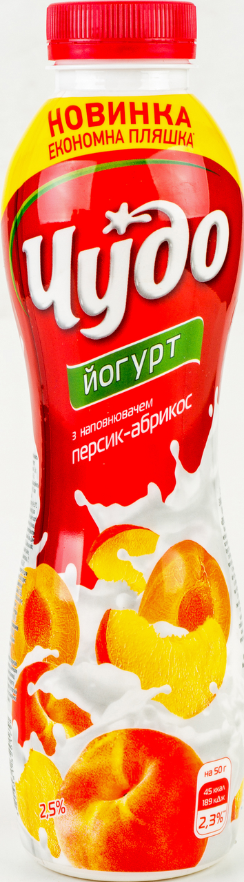 Йогурт Чудо персик-абрикос питний 2,5% 540г