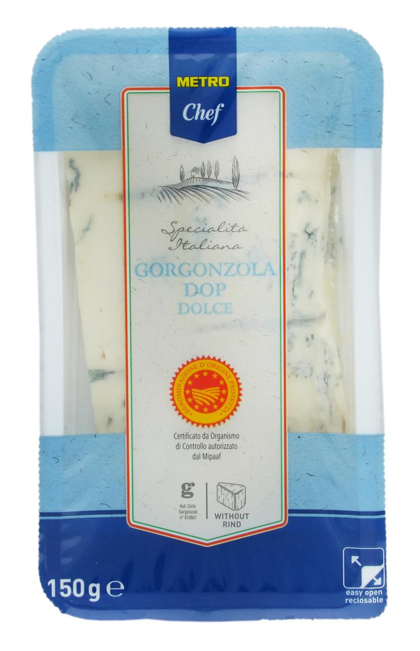 Сир Metro Chef Gorgonzola Dolce м`який 150г