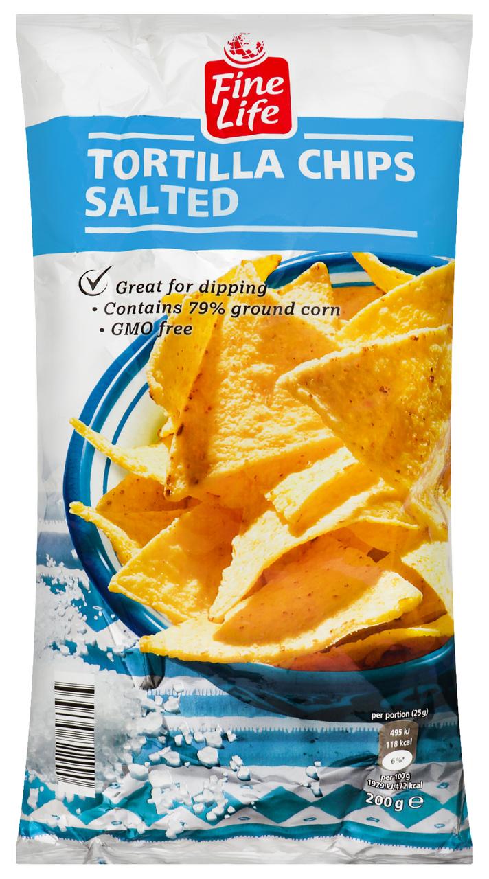 Чіпси Fine Life кукурудзяні з сіллю 200г