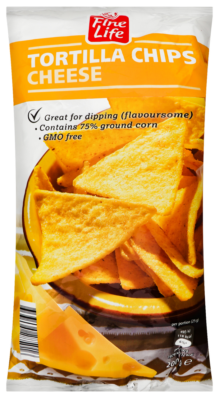 Чіпси Horeca Select кукурудзяні зі смаком сиру 200г