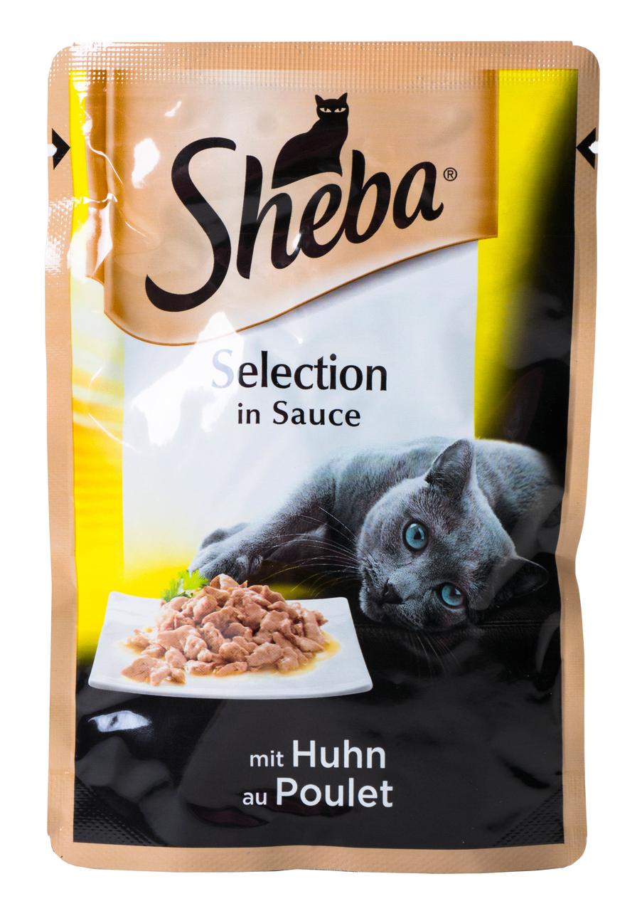 Корм для котів Sheba Selection in Sauce з куркою в соусі 85г