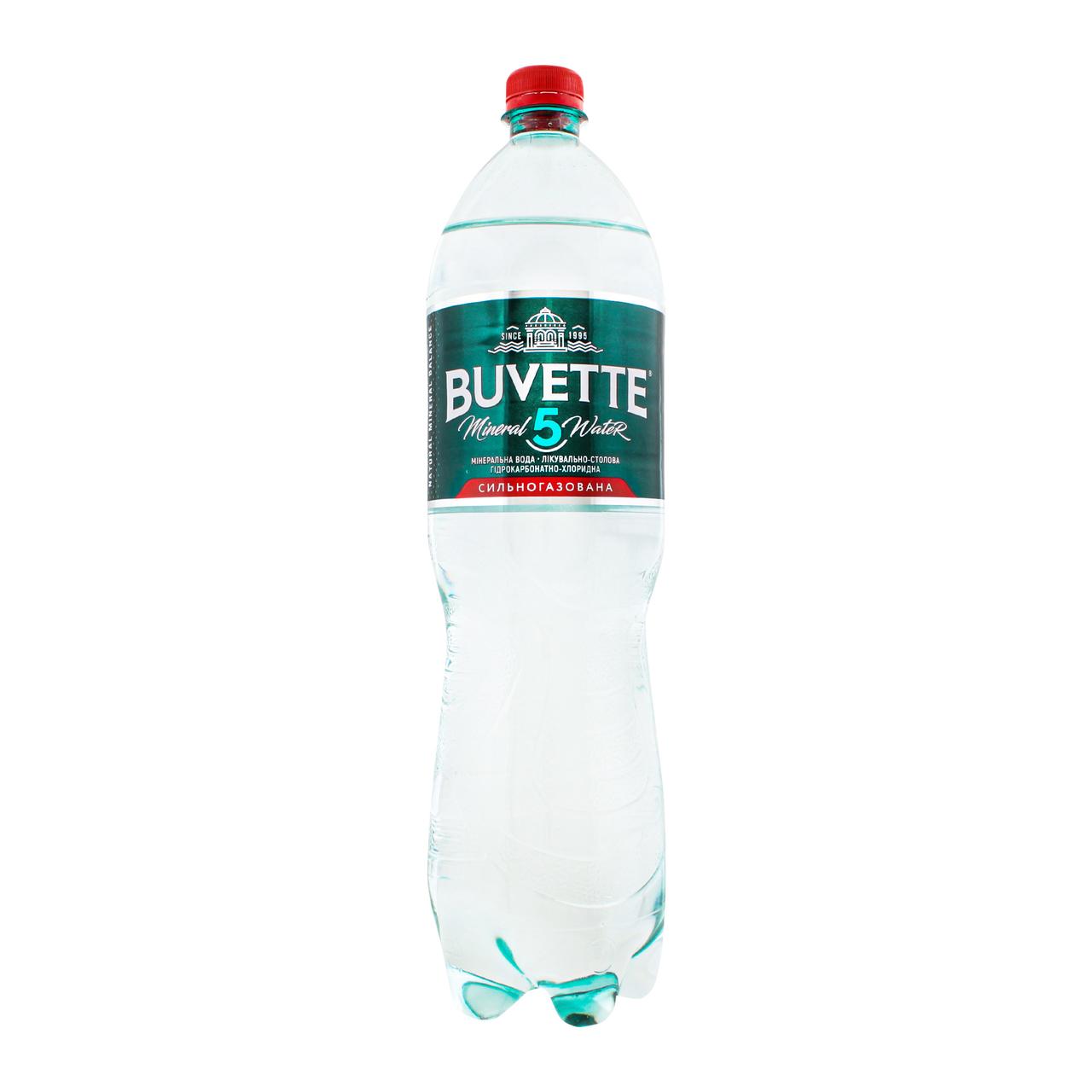 Вода мінеральна Buvette 5 сильногазов лікувальн-столова 1.5л