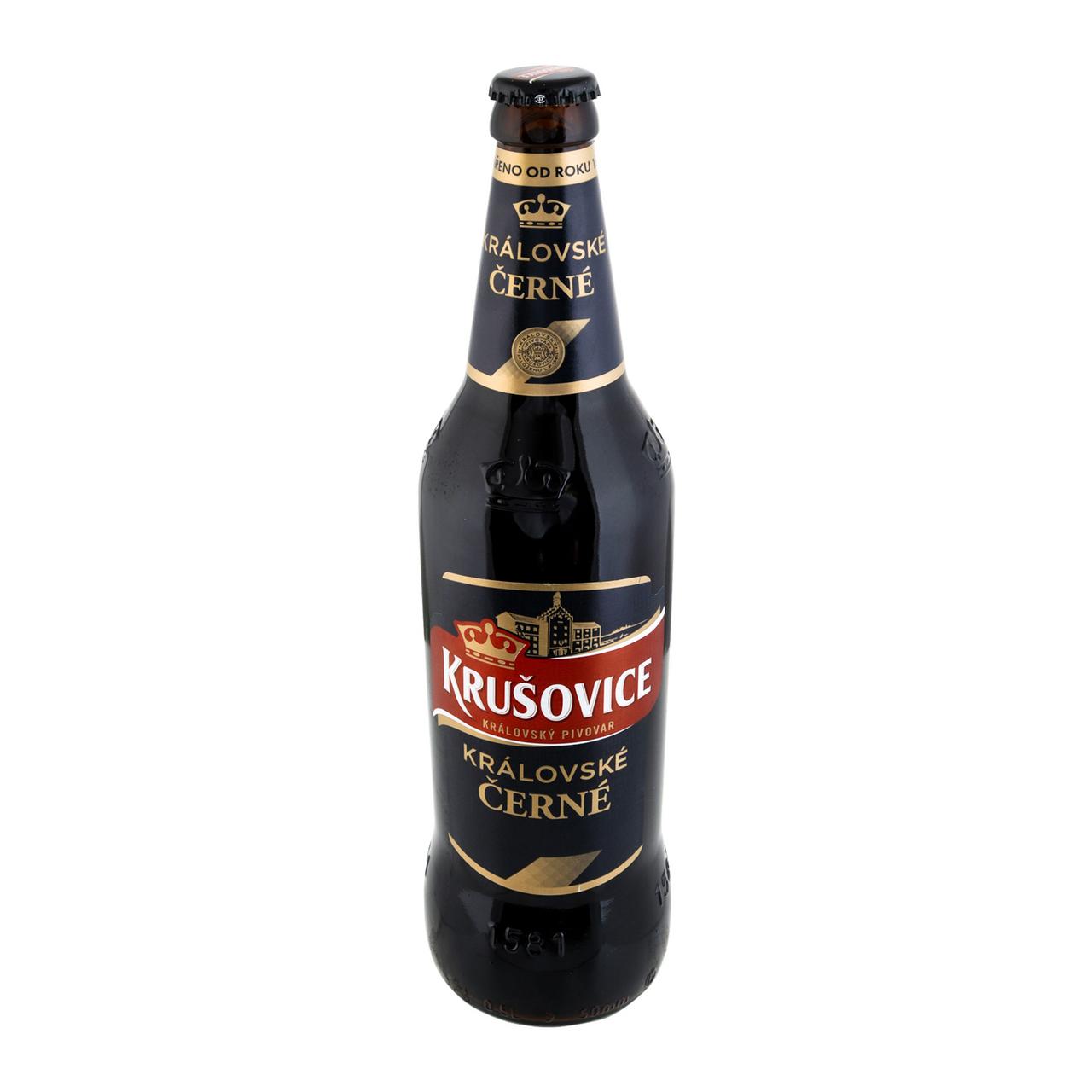 Пиво Krušovice Černé темне фільтроване 3,8% 0,5л