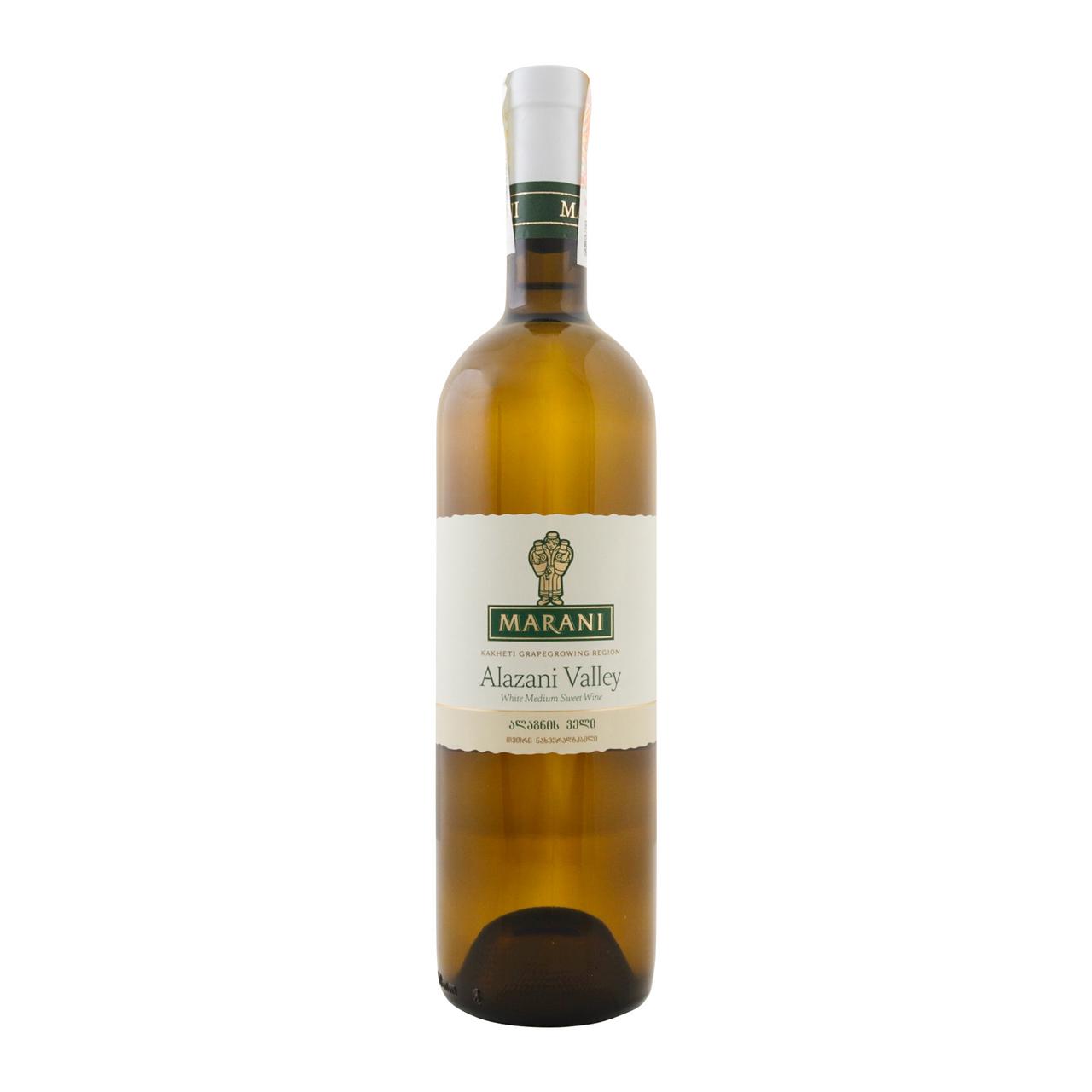 Вино Marani Алазанська Долина біле напівсолодке 12% 0.75л