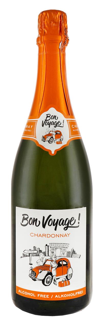 Винний напій Bon Voyage Sparkling Chardon біл сух 0,5% 0,75л