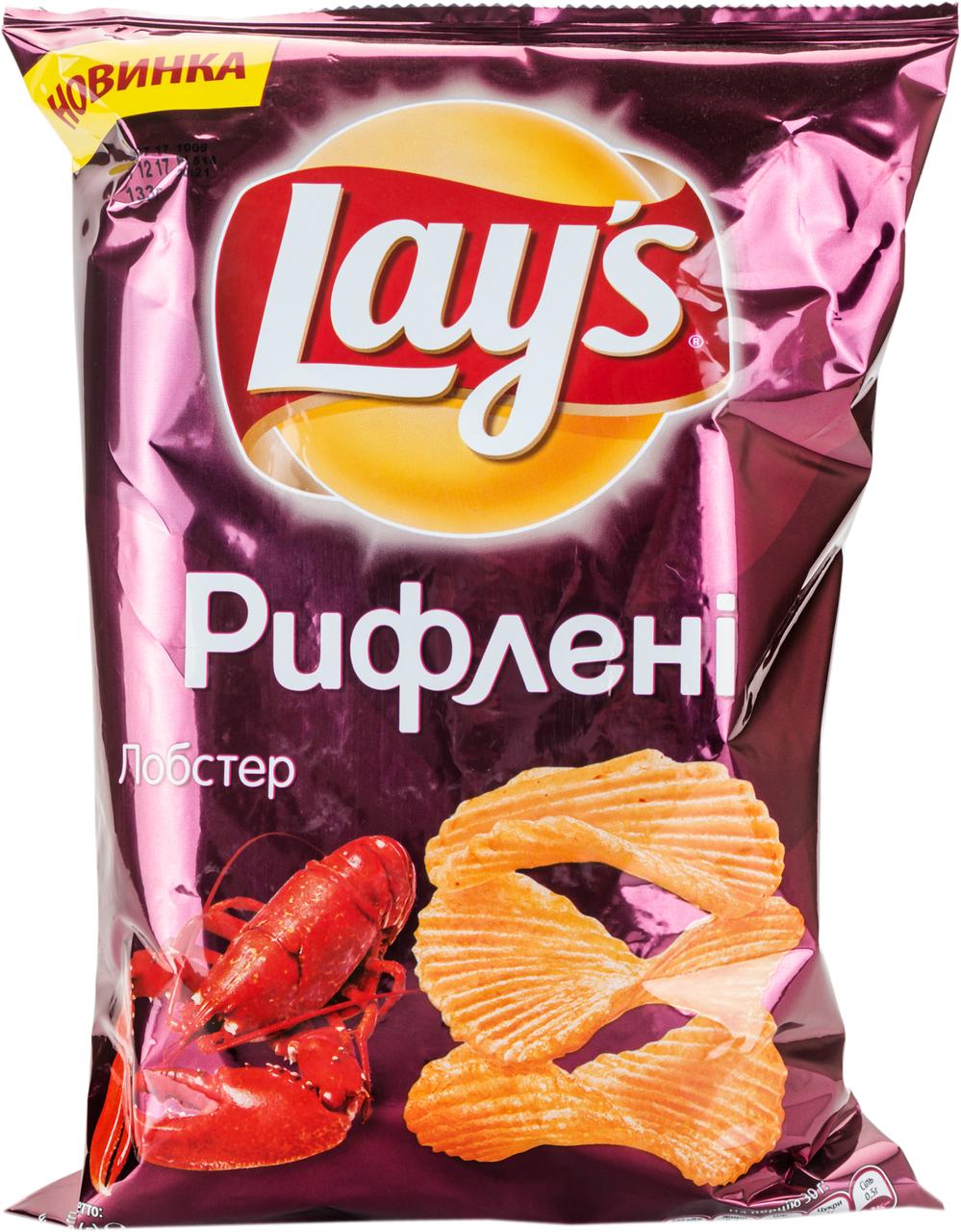 Чіпси Lay`s Рифлені картопляні смак лобстера 133г