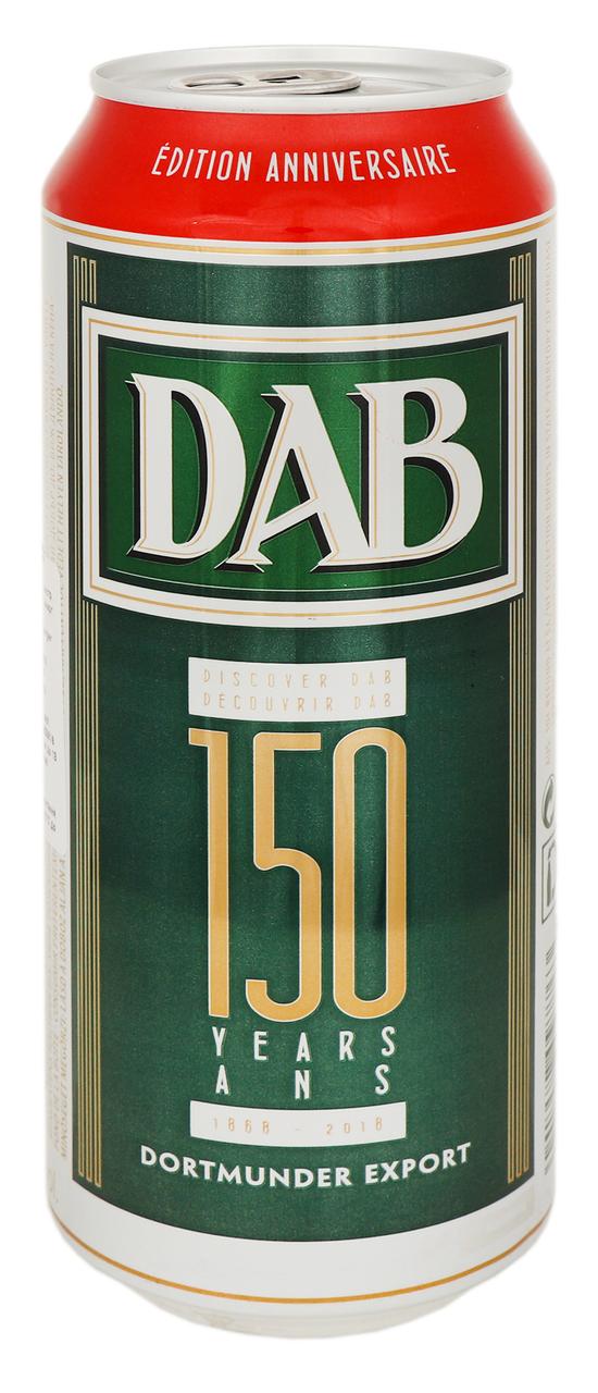 Пиво DAB Dortmunder Export світле фільтроване 5% 500мл ж/б
