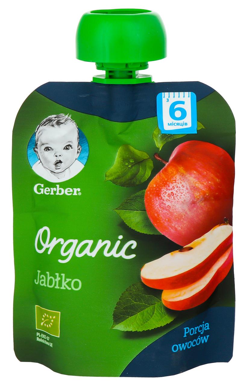 Пюре Gerber Organic яблуко для дітей з 6 місяців 90г