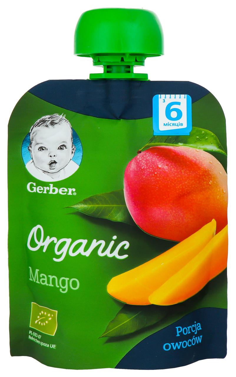Пюре Gerber Organic манго для дітей з 6 місяців 90г