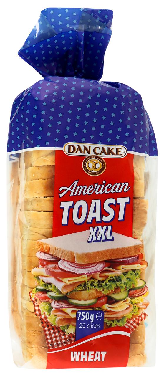 Хліб Dan Cake American toast xxl пшеничний нарізаний 750г