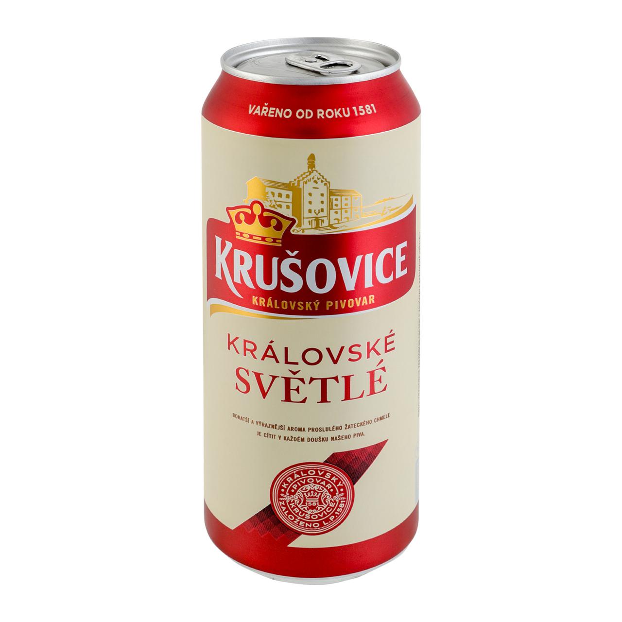 Пиво Krušovice Světlé світле фільтроване 4,2% 0,5л