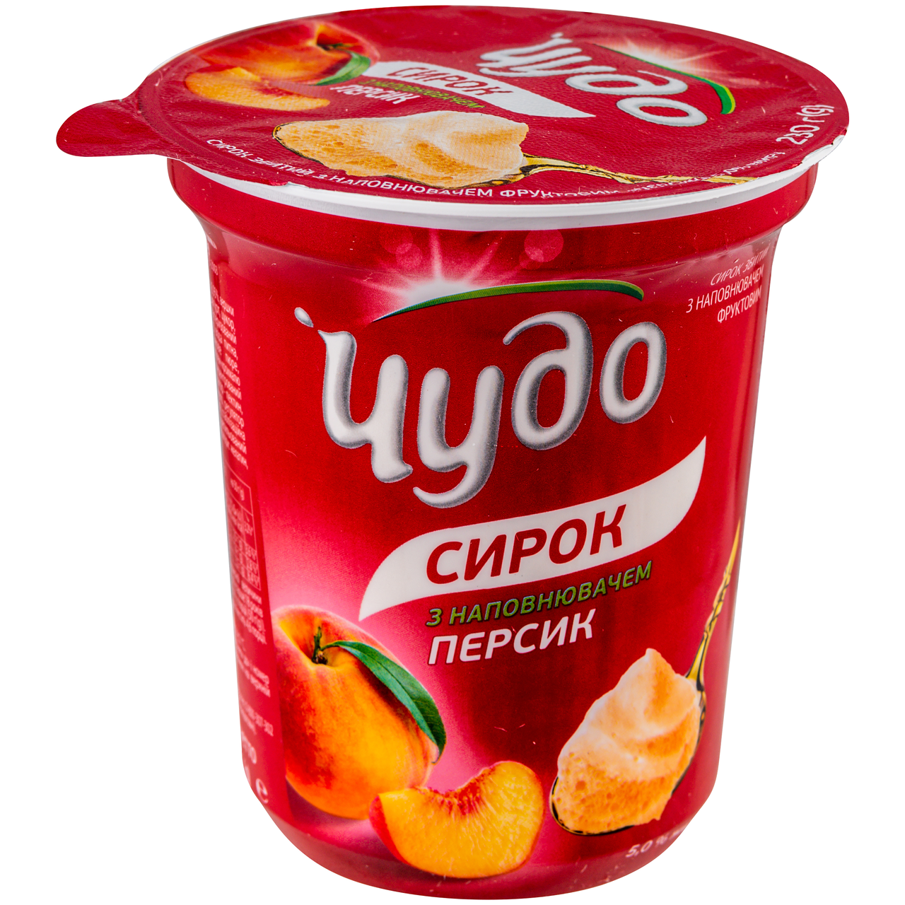 Сирок Чудо персик 5% 230г