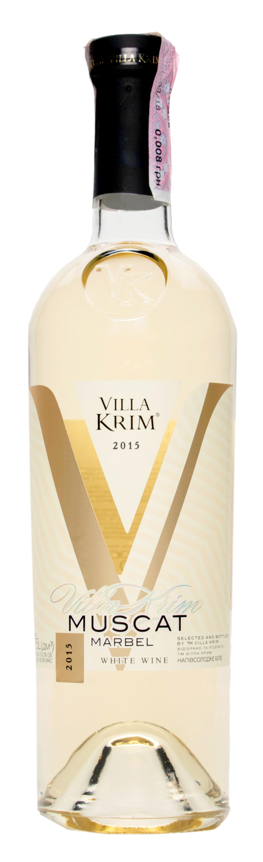 Вино Villa Krim Muscat Marbel біле напівсолодке 9-13% 0,75л