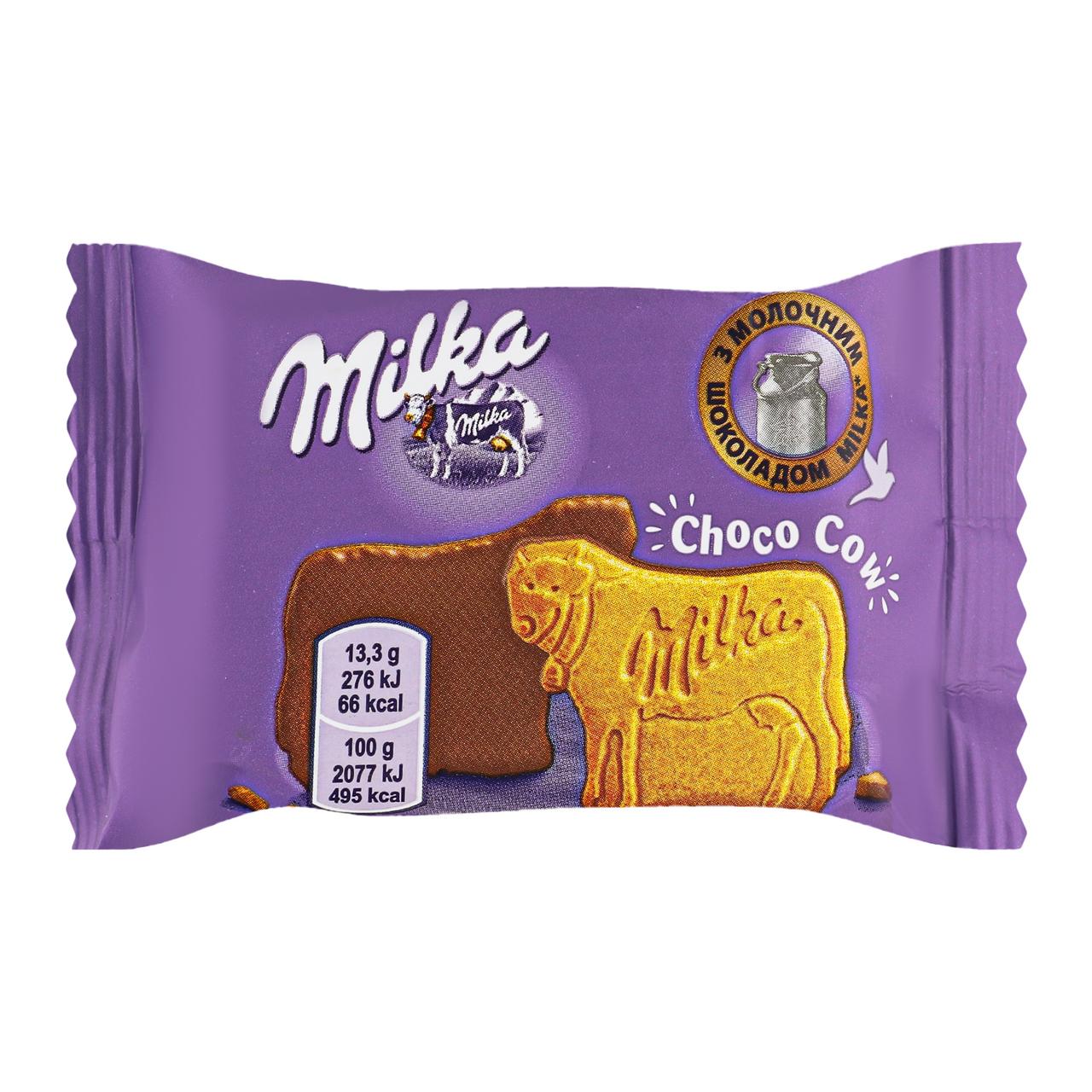 Печиво Milka Choco cow вкрите молочним шоколадом 40г