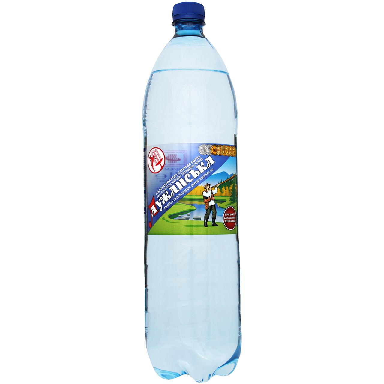 Вода Лужанська мінеральна с/газ 1.5л