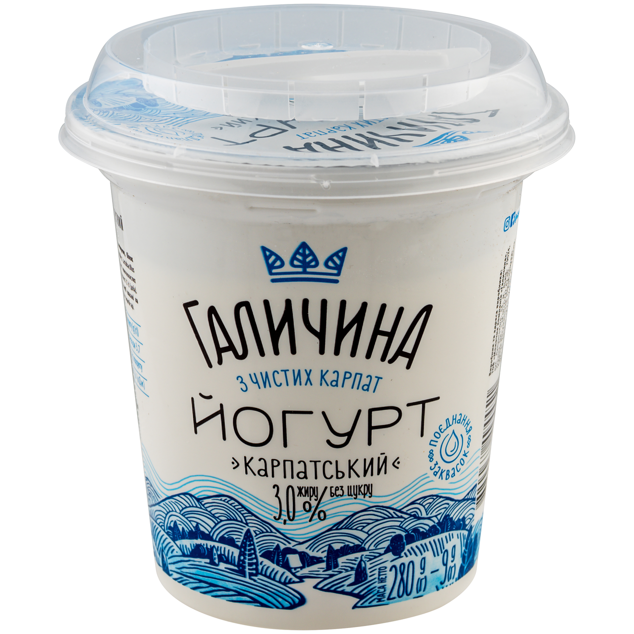 Йогурт3.0% Карпатський Галичина 280г