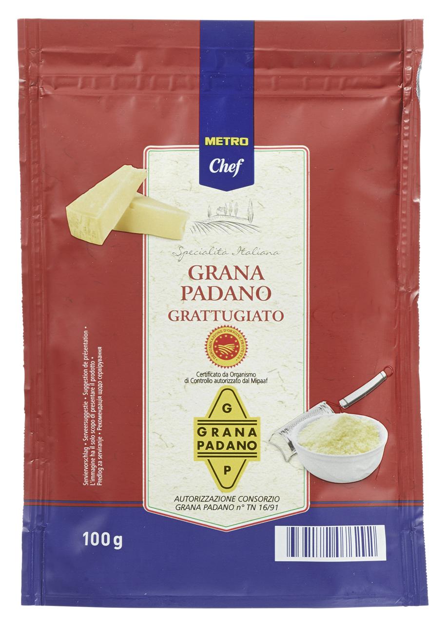 Сир Metro Chef Grana Padano тертий 32% 100г
