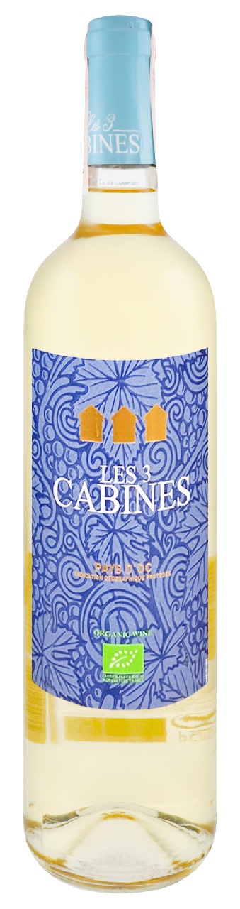 Вино Les 3 Cabines Pays d`Oc Био біле сухе 10% 0,75л